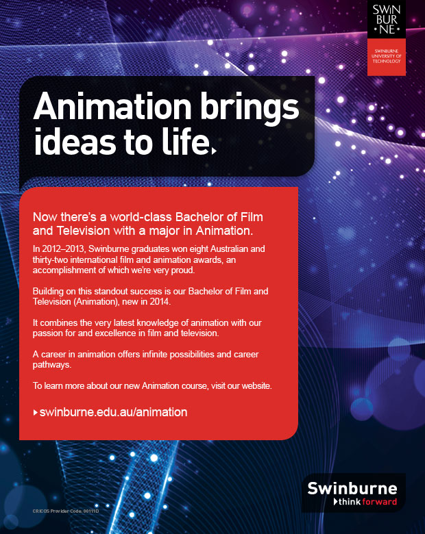 Swinburne Bachelor of Film and Television (Animation)